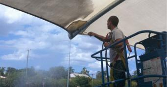 Building Tents and Car Parking Tents Cleaning